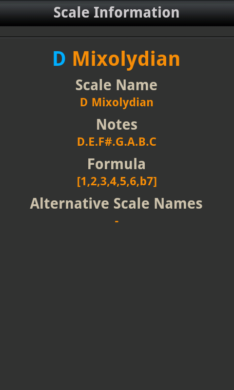 All Guitar Scales - screenshot
