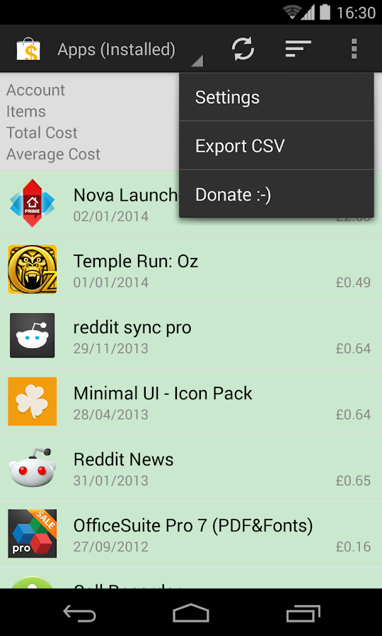 My Paid Apps - screenshot