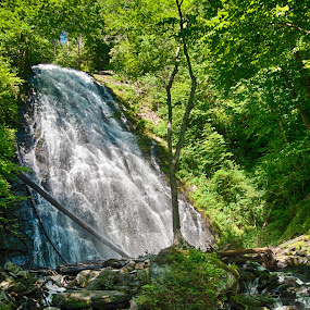 Crabtree Falls  by Robert Watson - Landscapes Waterscapes ( water, waterfalls, nature, nc, blue ridge parkway, scene, travel, landscape, nikon, crabtree, hiking,  )