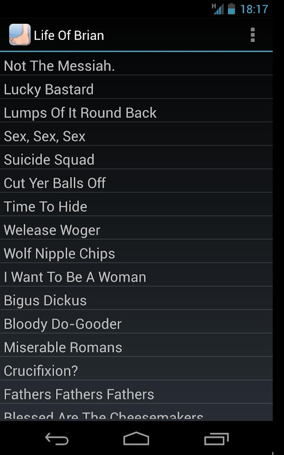 Monty Python Movie Soundboard - screenshot