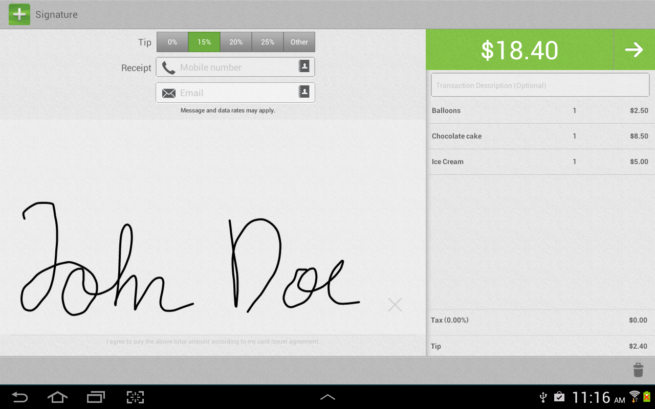 AprivaPay Plus for Tablet- screenshot