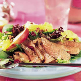 Tenderloin, Cranberry and Pear Salad with Honey Mustard Dressing.