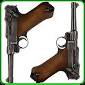 Luger P08 Gun logo
