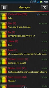 GO SMS Clean Marley Theme