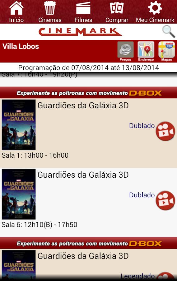 Cinemark Brazil - screenshot