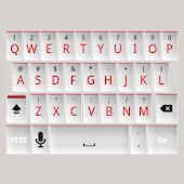 White and Red Keyboard Skin