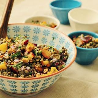 Lentil & Stone Fruit Salad
