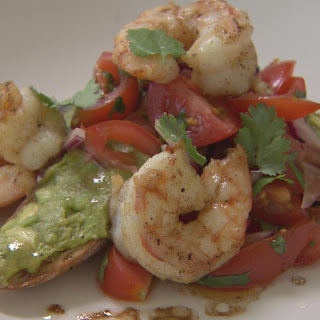 Seared Prawns on Avocado Toast