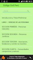 Screenshot of Código Civil Perú