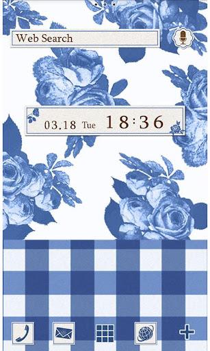 CuteTheme-BlueGingham and Rose 1.0 Windows u7528 1