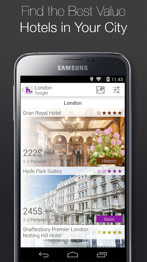 Hotels- screenshot