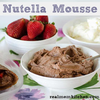 Easy Nutella Mousse.