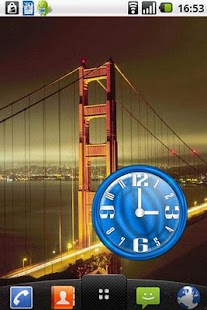 Nice Blue Clock Widget - screenshot thumbnail