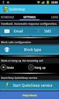 Screenshot of QuiteSleep