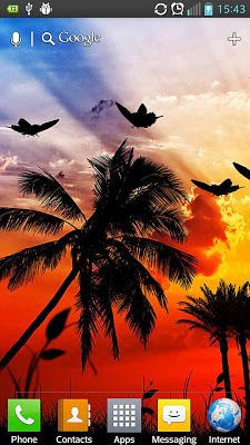 Sunset HD Live Wallpaper - screenshot