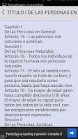 Screenshot of Código Civil de Venezuela