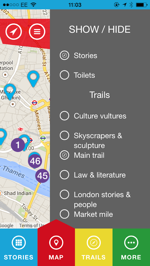 City Visitor Trail - screenshot