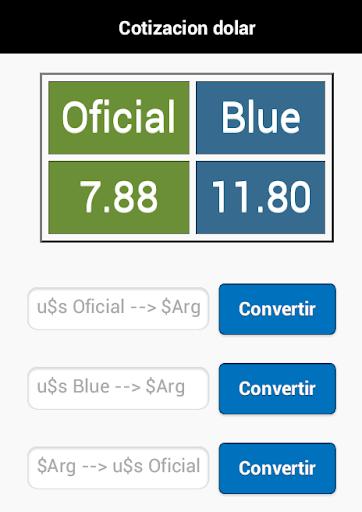 Cotización Dolar - Peso Arg.