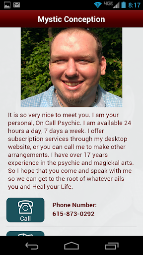 Professional On Call Psychic.