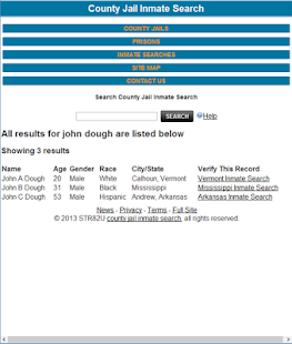 County Jail Inmate Search - screenshot thumbnail