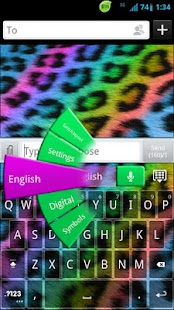 GO Keyboard Rainbow Cheetah - screenshot thumbnail