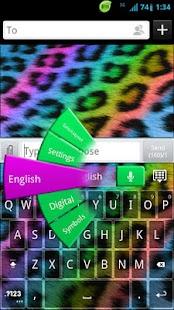 GO Keyboard Rainbow Cheetah- screenshot thumbnail