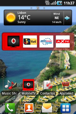 Vodafone Mobile TV - screenshot