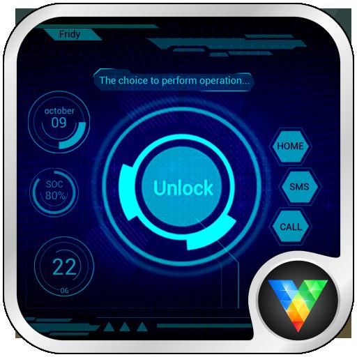 炫酷科技动态锁屏壁纸 個人化 App LOGO-APP開箱王