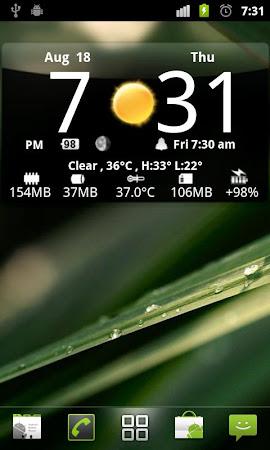 Smoked Glass Clock Widget 4.5.0 screenshot 201223
