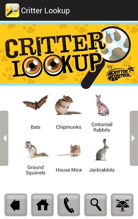Critter Lookup - screenshot