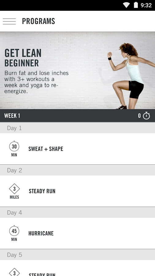 NIKE+ TRAINING CLUB - screenshot