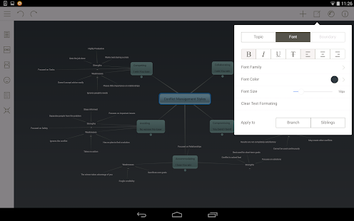 Mindomo (mind mapping) – Vignette de la capture d'écran