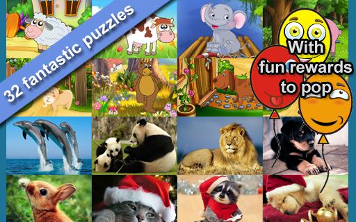 動物拼圖為孩子們