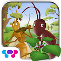 Ant and Grasshopper Storybook logo