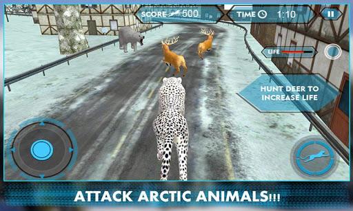 野生雪豹攻击3D