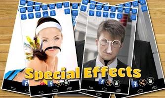 Screenshot of Bald & Mustache Booth Fun Pic