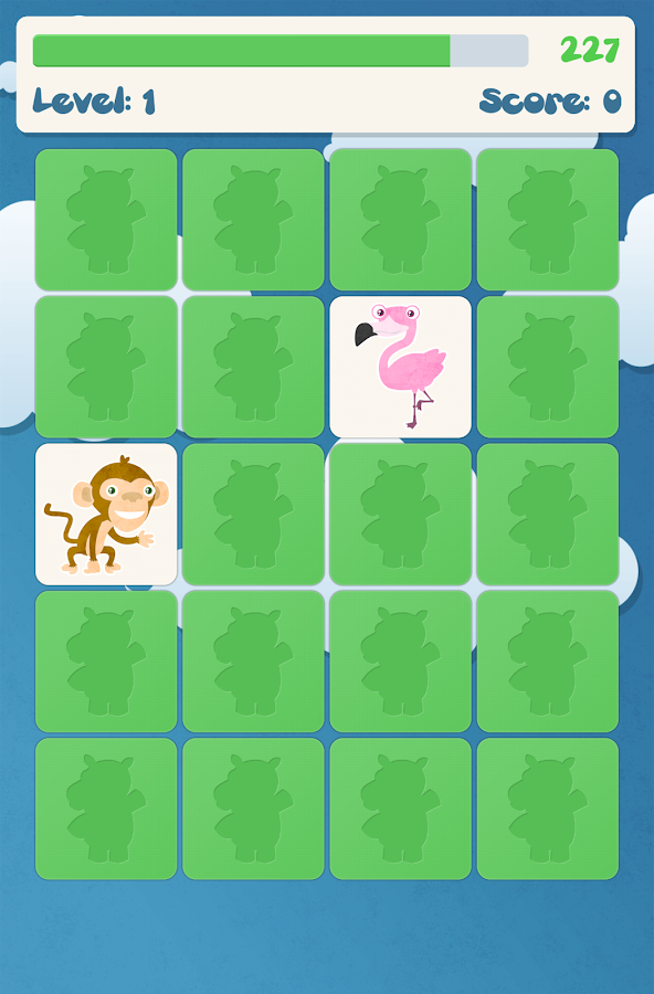 Animals memory game for kids- screenshot