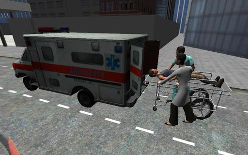 拡張救急車の駐車場の3D