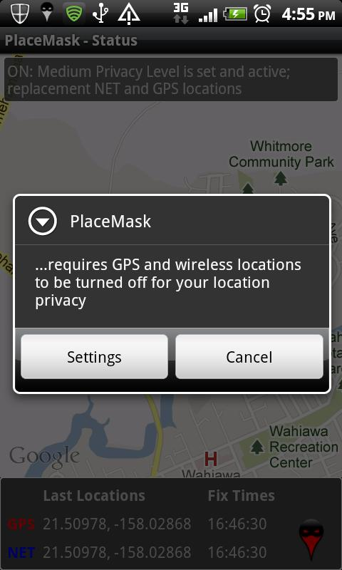 Location Privacy TRIAL - screenshot