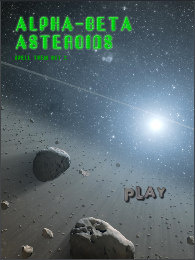 Alphabeta Asteroids- screenshot