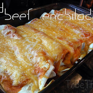 Easy Beef Enchiladas.