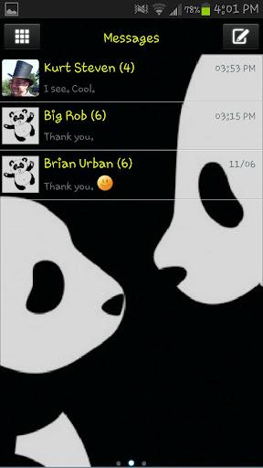 Panda Theme Go SMS