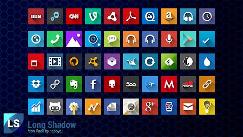 Long Shadow Icon Pack Screenshot 5