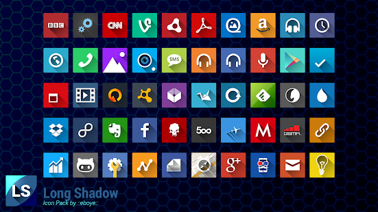 Long Shadow Icon Pack Screenshot 9