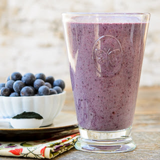 Blueberry Green Smoothie.