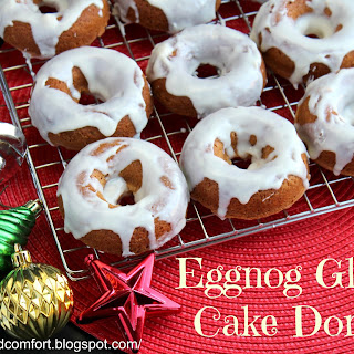 Eggnog Glazed Cake Donuts