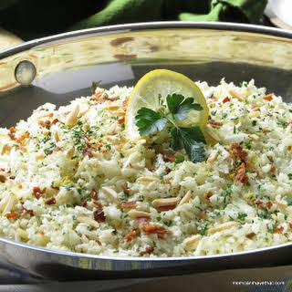 Riced Cauliflower Pilaf.