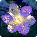 Serene flower clock HD widget icon