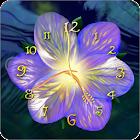 Serene flower clock HD widget icon