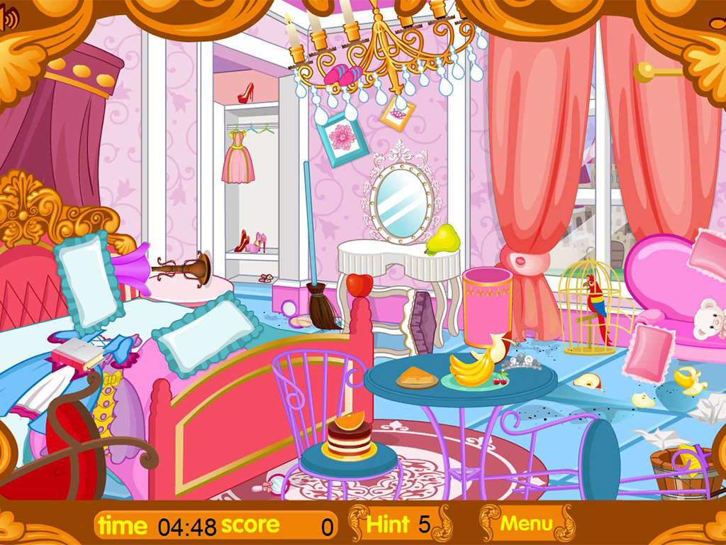 Limpiando el castillo real aplicaciones de android en for Cuarto ordenado animado